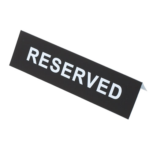 """Reserved"" Signs"