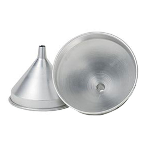 Spun Aluminum Funnels with Built In Air Vent