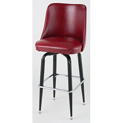 Bucket Seat Black Square Frame Bar Stools
