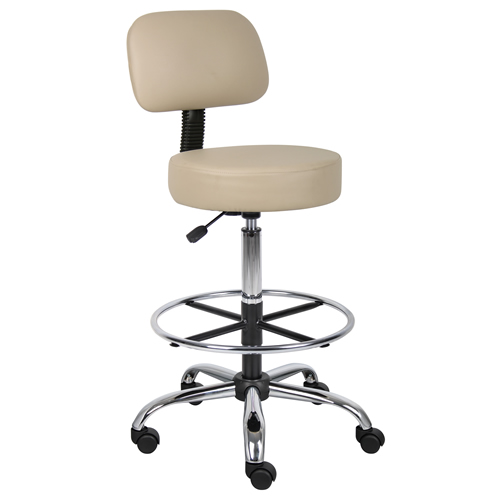 Medical / Drafting Stools with Black Caressoft™