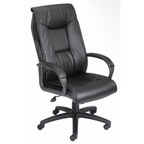 High Back Executive LeatherPlus Chair w/Padded Arm