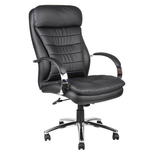 High Back CaressoftPlus™ Exec. Chair w/Chrome Base