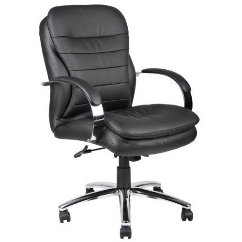 Mid Back CaressoftPlus™ Exec. Chair w/Chrome Base