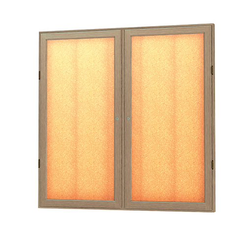 Messenger Series Wood Enclosed Bulletin Board