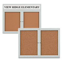 Outdoor Enclosed Cork Bulletin Boards
