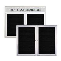 Square and Radius Design Indoor Enclosed Aluminum Letter Boards