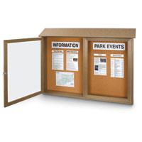 Single and Double Door Corkboard Message Centers
