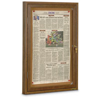 Restroom Boards with Wood Frame - Walnut Stained