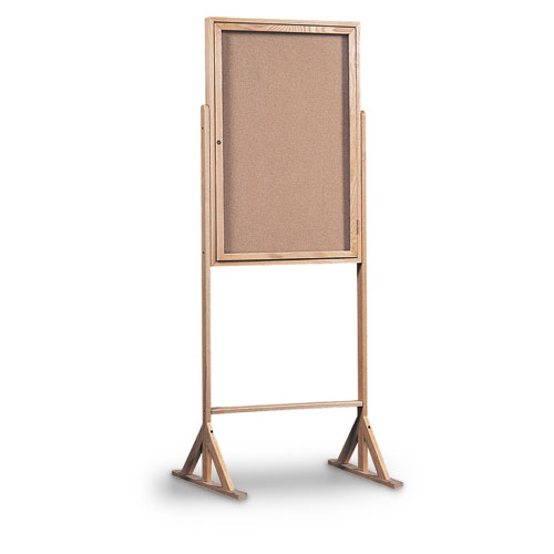 Double Pedestal Enclosed Corkboards