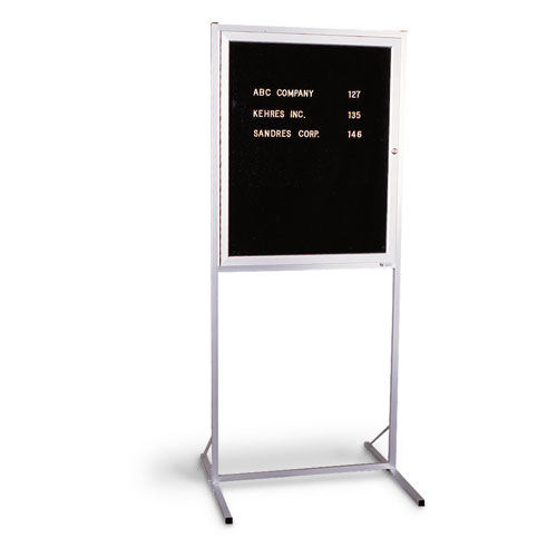 Double Pedestal Enclosed Letterboards