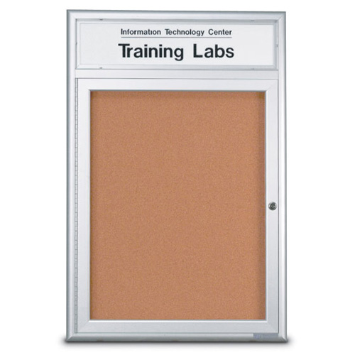 "4"" Extra Deep Radius Framed Enclosed Corkboards"