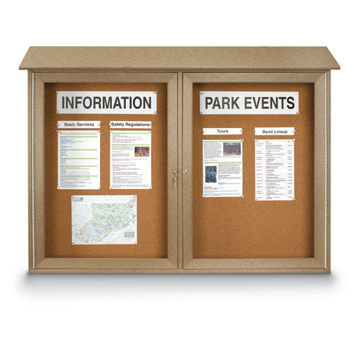 Single and Double Door Corkboard Message Centers