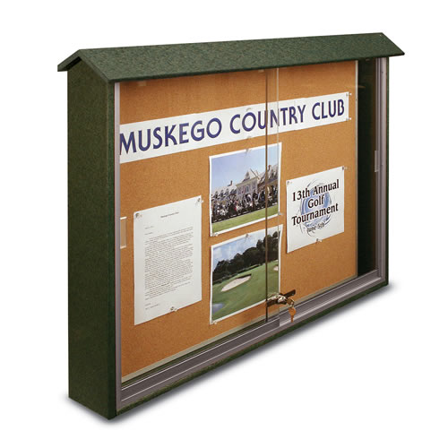 Sliding Door Corkboard Message Centers
