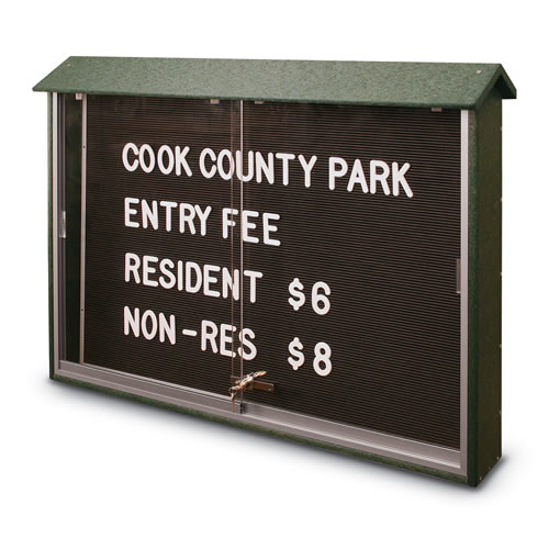 Sliding Door Letterboard Message Centers