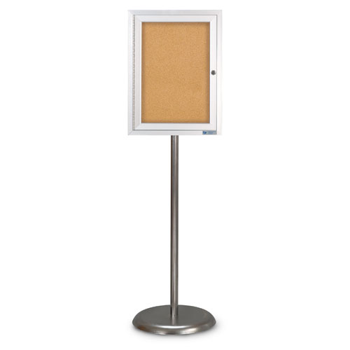 Enclosed Pedestal Corkboards