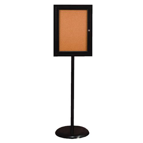 Enclosed Pedestal Corkboards
