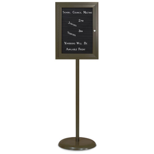 Enclosed Pedestal Letterboards