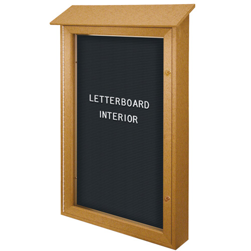 Single and Double Door Letterboard Message Centers