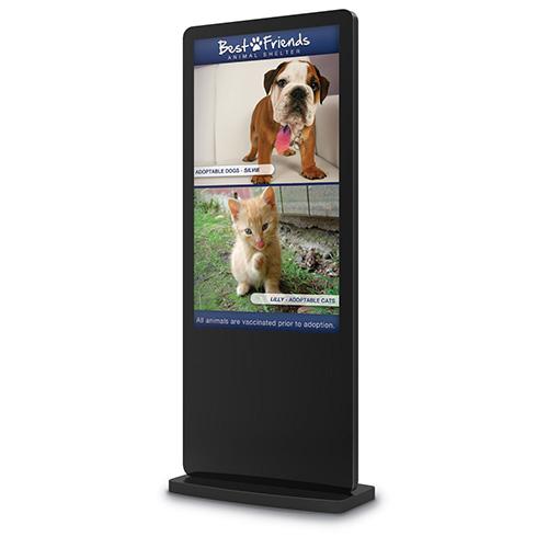 """43"""" LCD All-In-One Freestanding Kiosk"""