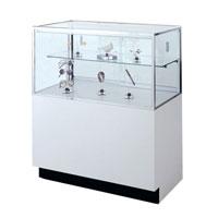 GL110 Laminate Half-Vision Jewelry Display Case
