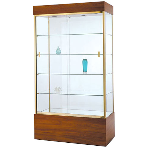 GL105 Wood Veneer Rectangular Wall Display Case