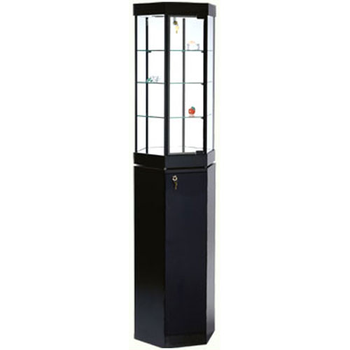 GL6 Laminate Hexagonal Counter Top Display Case