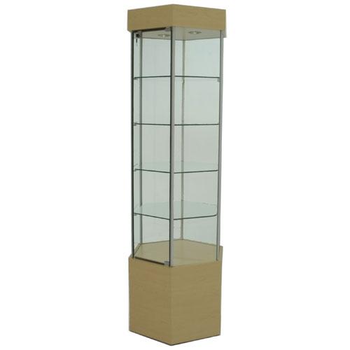 SFL901 Laminate Hexagonal Tower Display Case