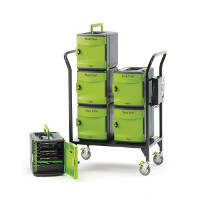Tech Tub2 Modular Cart with syncing USB hub - holds 32 devices