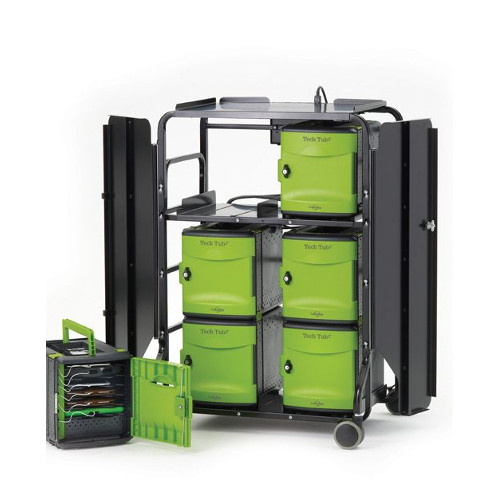 Tech Tub2 Premium Cart with syncing USB hub - holds 32 devices