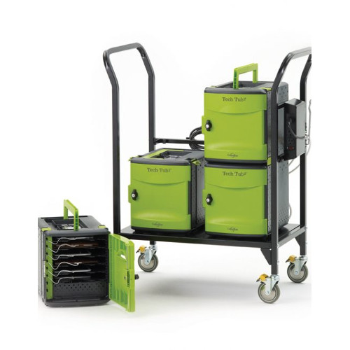 Tech Tub2 Modular Cart - holds 24 devices