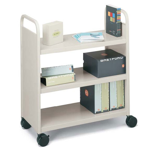 BOOF1 Flat-Shelved Book Trucks
