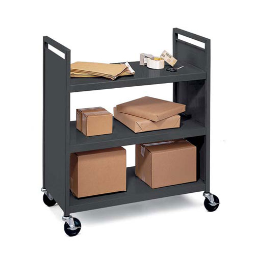 F336 Flat-Shelved Book Trucks