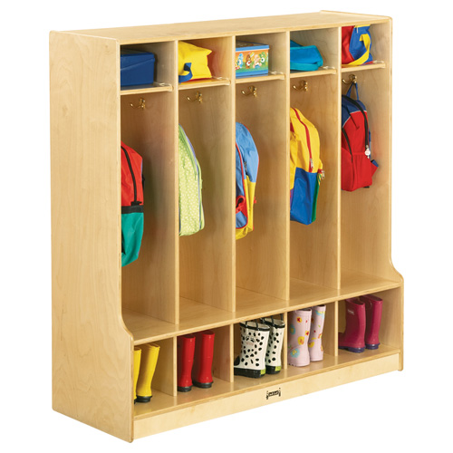 Coat Locker with Step