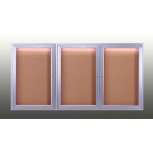 Enclosed Bulletin Boards with Concealed Lighting