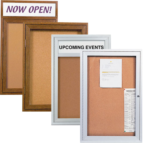 Indoor Enclosed Corkboards