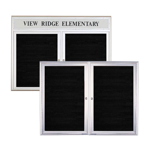 Square and Radius Design Indoor Enclosed Aluminum Letter Boards