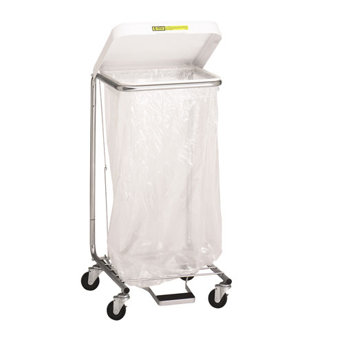 Single Medium Duty Hamper with Foot Pedal