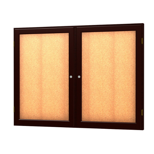 Messenger Series Wood Enclosed Bulletin Board