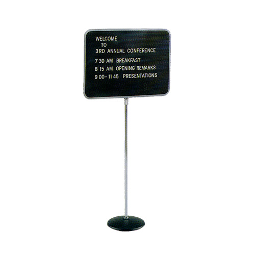 Quartet® Adjustable Single Pedestal Magnetic Letter Boards