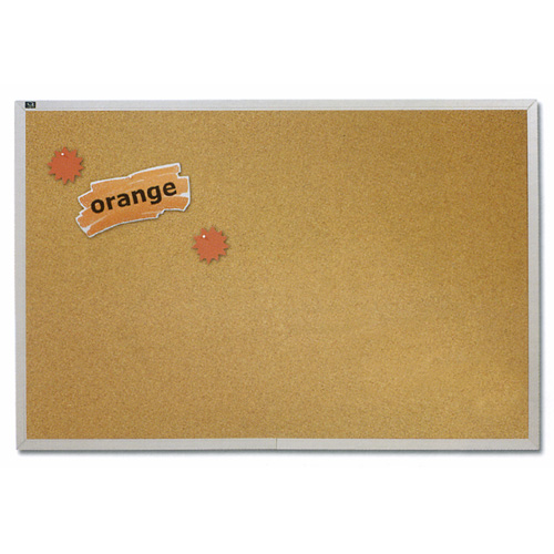 Economy Natural Cork Bulletin Board with Aluminum Frame