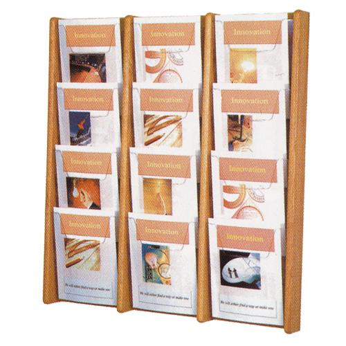 Oak & Acrylic Literature Display