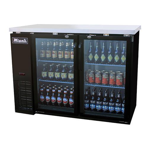 Competitor Series Glass Door Back Bar Refrigerators