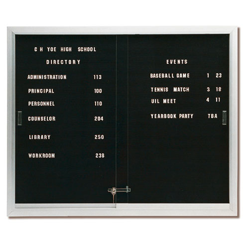 Deluxe Directory Board Cabinet with Sliding Doors