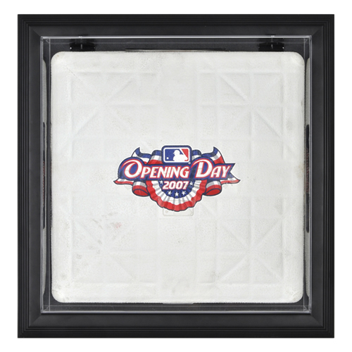 Black Framed Baseball Base Display Case