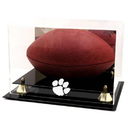 Golden Classic Football Display Case with NCAA Logo