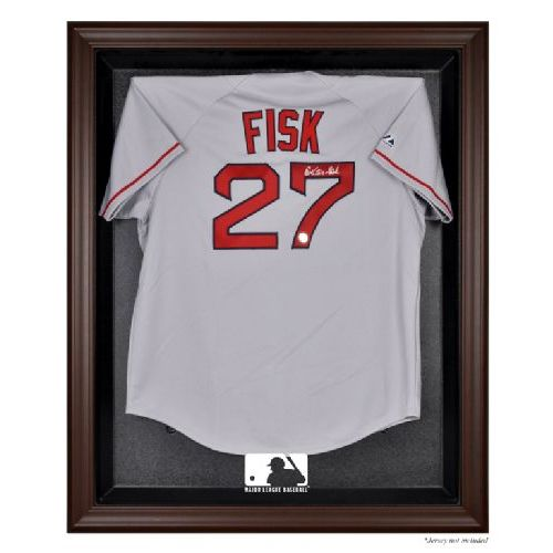Brown Framed Jersey Display Case with MLB Team Logo | US Markerboard