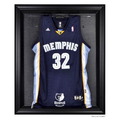 Black Framed Jersey Display Case with NBA Team Logo