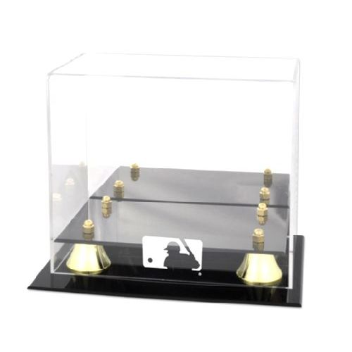 Golden Classic Mini Helmet Display Case with MLB Team Logo