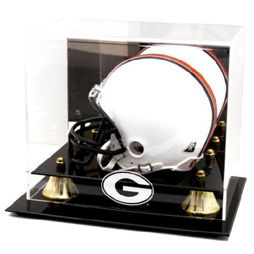 Golden Classic Mini Helmet Display Case with NCAA Logo