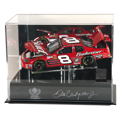 NASCAR 1/24th Die Cast Display Case w/Platform and Race Used Tire